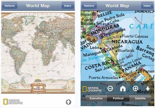Атлас мира для iPhone