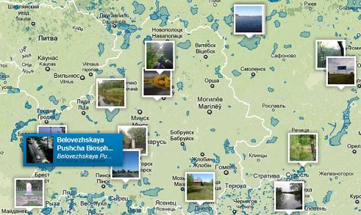 Беловежская Пуща на карте