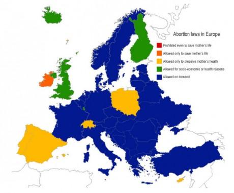 карта законов аб абортах