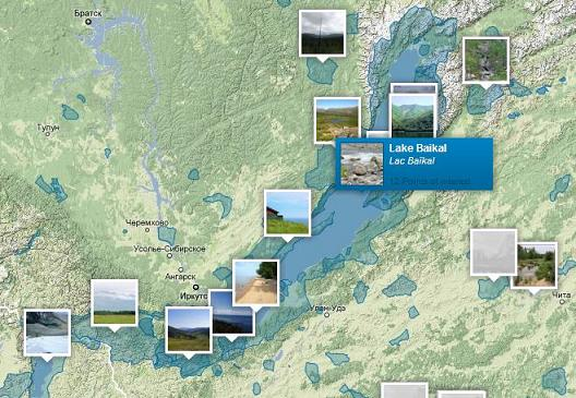 озеро Байкал на карте