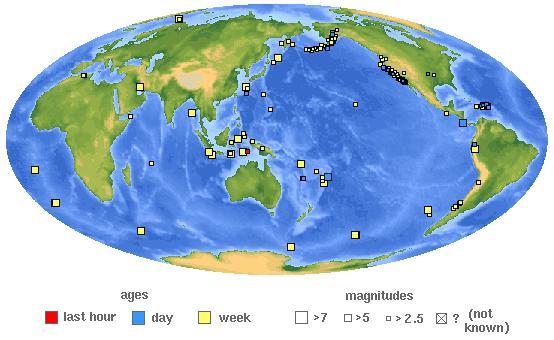 сейсмическая активность Земли