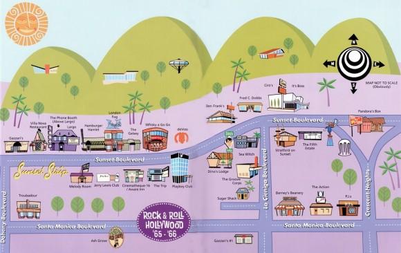 Карта Рок-н-ролла в Голливуде