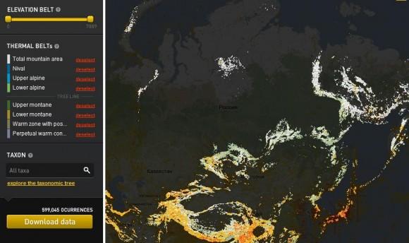 горы России на карте