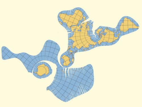 карта континентов развернутая