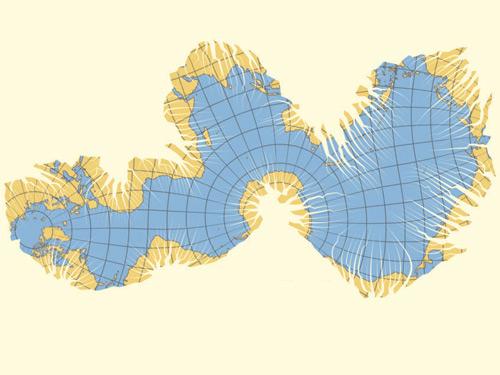 карта океанов мира