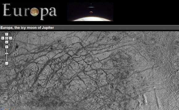 карта спутника Юпитера - Европы