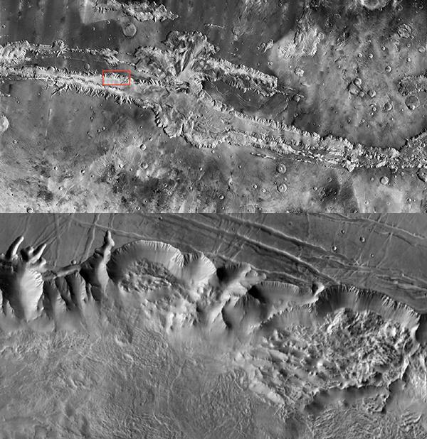 Подробная карта поверхности Марса