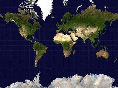 неправильная карта мира