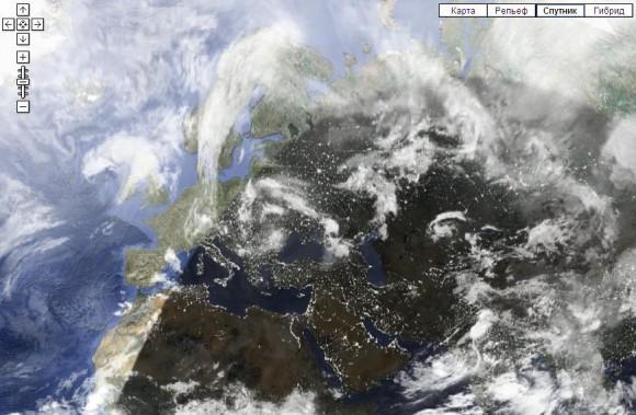 Облака на карте
