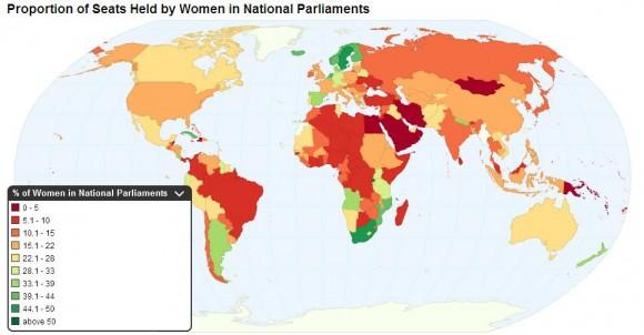 Женщины в парламентах мира