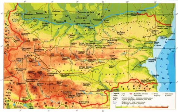 Карта шоппинга по Болгарии