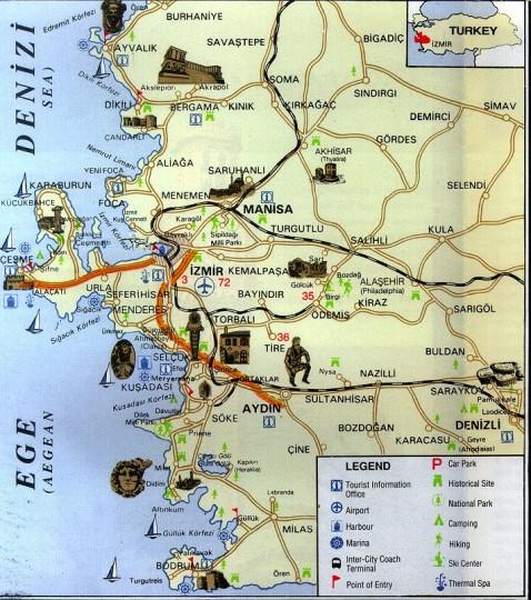 Карта Измира