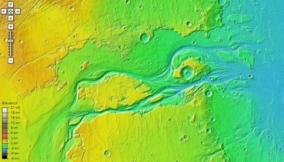 карта Марса онлайн