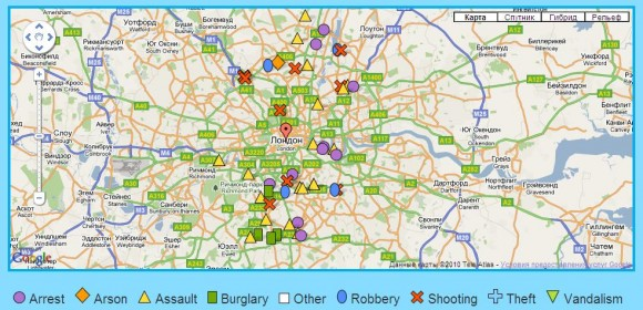 карта преступности