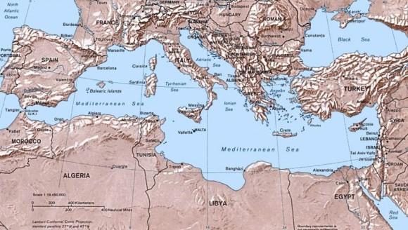Туристическая карта Средиземного моря