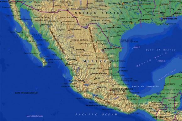 Туристическая карта Мексики