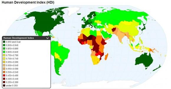 Уровень развития по странам