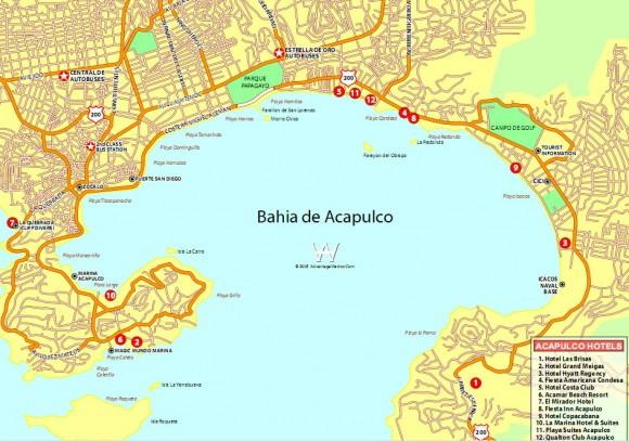 Акапулько-карта