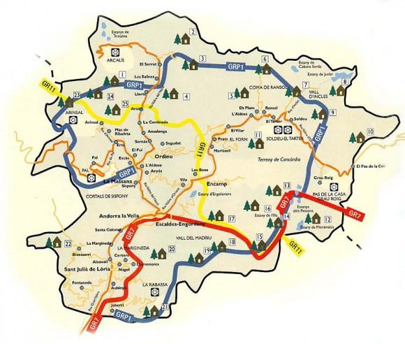 Андорра-карта