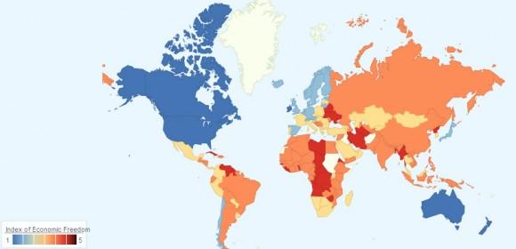 экономическое развитие на карте