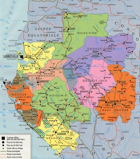 Габон-карта