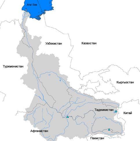 Карта Амударьи