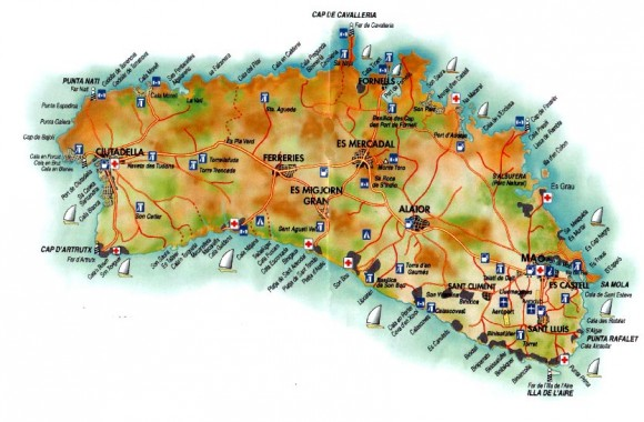 Менорка на карте