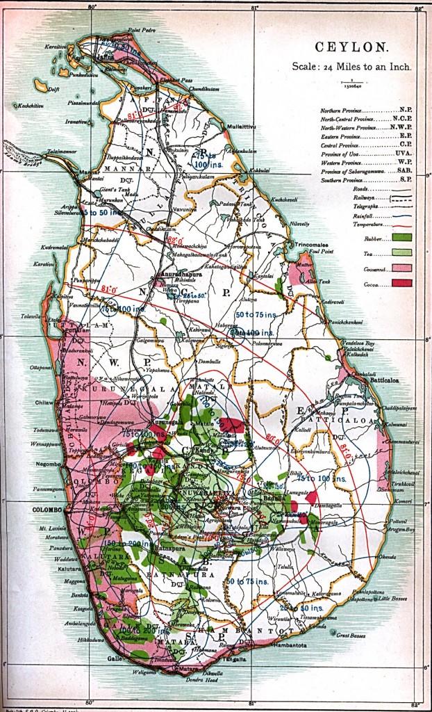 Шри-Ланка-карта
