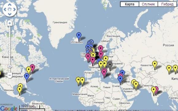 Звуки мира на карте