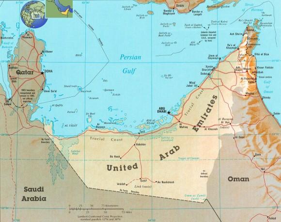 Арабские Эмираты карта