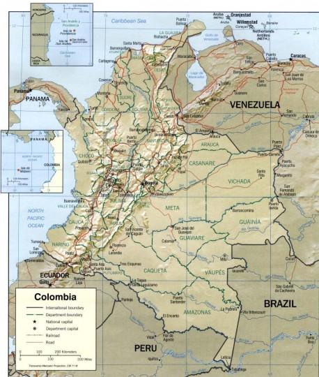 Колумбия-карта