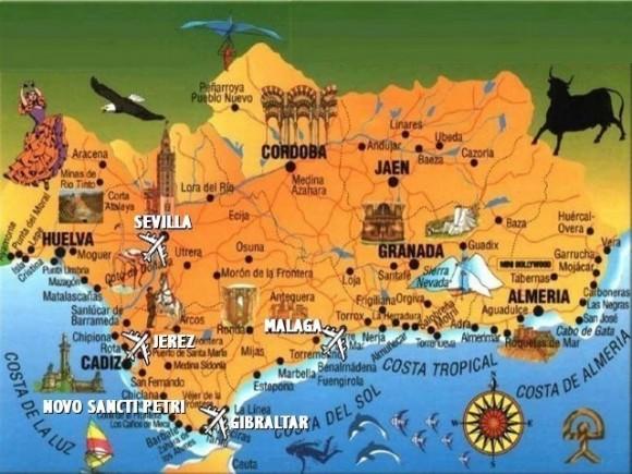 Карта Андалусии туристическая