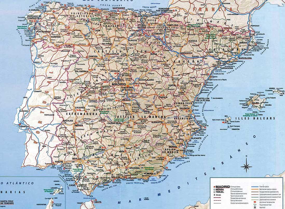 Испания на карте   Инфокарт – все карты сети: http://www.infokart.ru/ispaniya-na-karte/