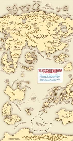Карта социальных сетей