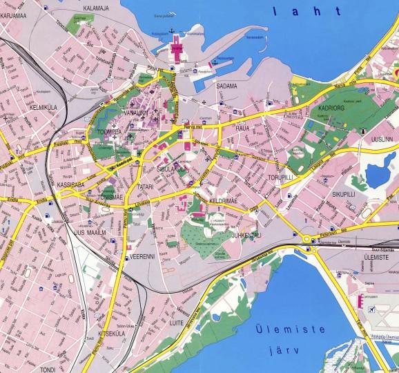 Карта Таллинна