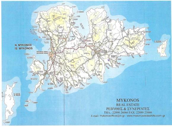 Миконос - карта