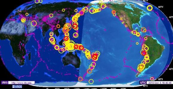 Сейсмическая карта мира
