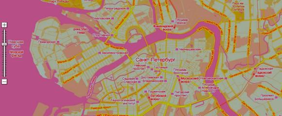 Схематичная карта Санкт-Петербурга