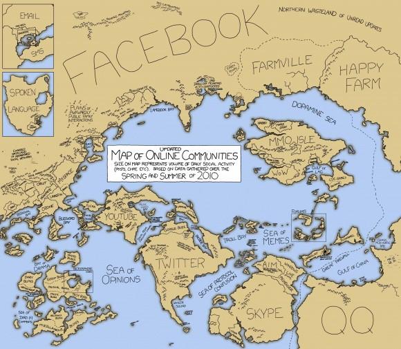 социальные сети на карте
