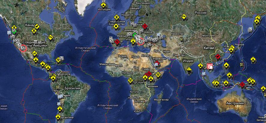 карты земли со спутника в реальном времени