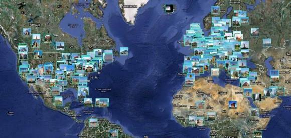 Достопримечательности мира на карте