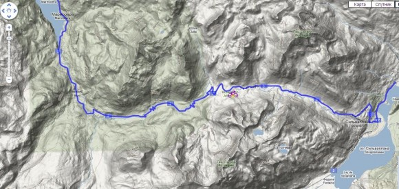 Карта Альп