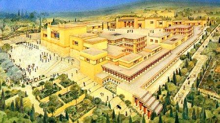 Кносский дворец в древности