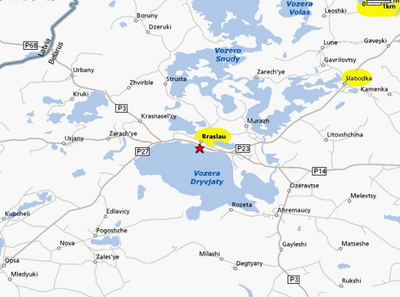 Браславские озера карта