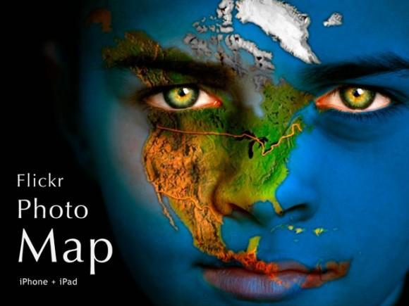 Карта Flickr фото для мобильных устройств