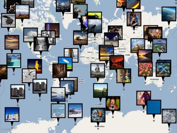 Карта Flickr фото
