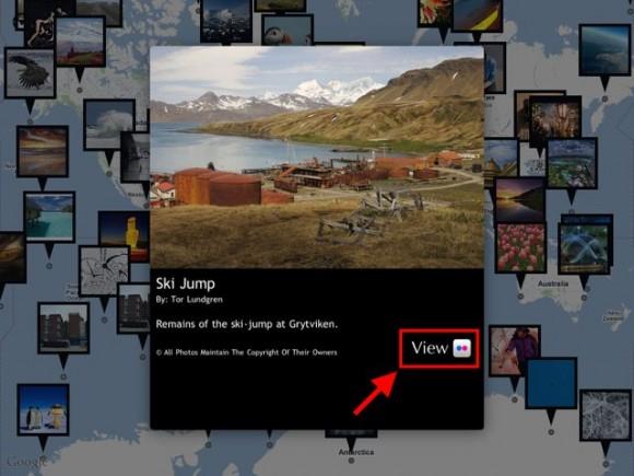Карта Flickr фото большой вид