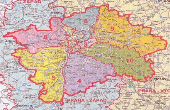 Районы Праги