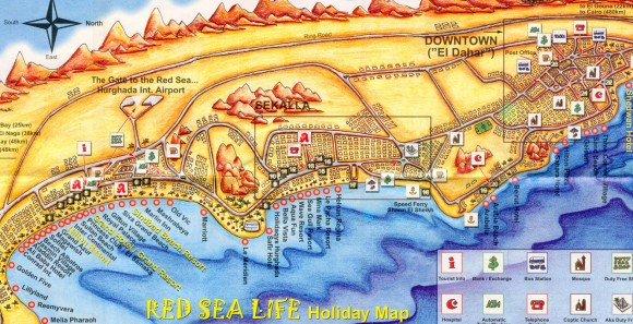 Египет карта курортов