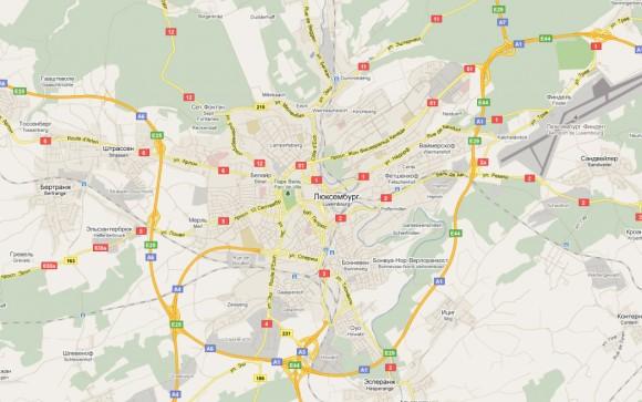 Карта города Люксембурга на русском